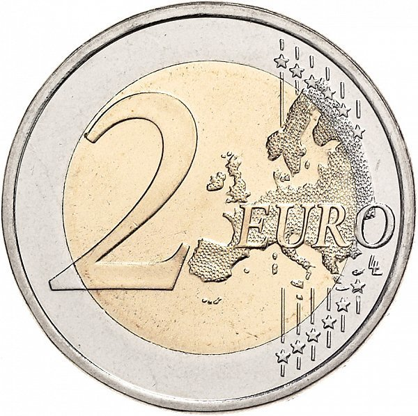 2 евро 2015 год Нидерланды - 30 лет флагу Европейского союза