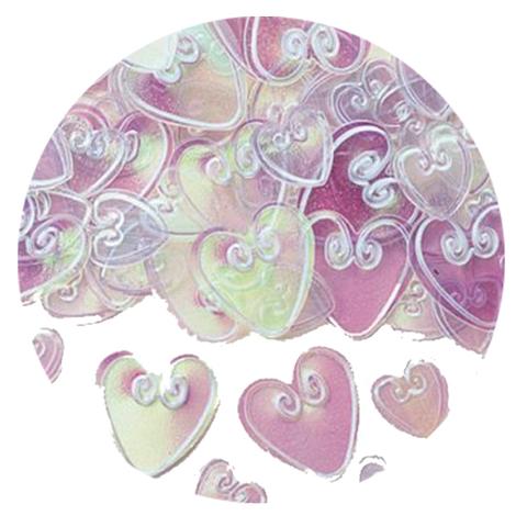 Сердца 0,7-1,2 см Прозрачный Перламутр