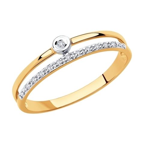 1011864 - Кольцо из золота с бриллиантами