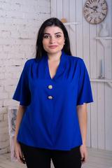 Хільда. Ніжна жіноча блуза великих розмірів. Електрик