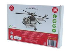 Конструктор 3D деревянный подвижный Lemmo Вертолет