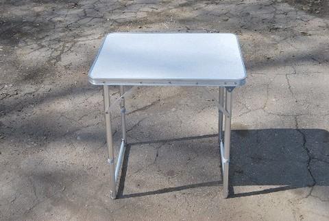 Стол туристический, столешница пластик, ножки алюминий,размер 60*45*62 (регулируемая высота стола) :(HXРT-8816):