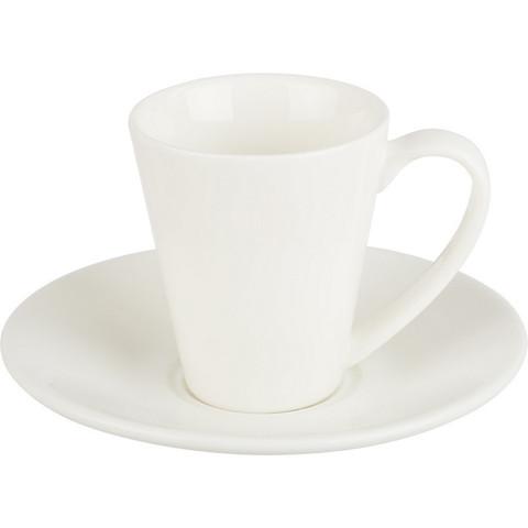 Кофейная пара Wilmax 110 мл фарфоровая