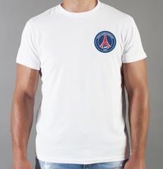 Футболка с принтом FC Paris Saint-Germain (ФК Пари Сен-Жермен) белая 0012