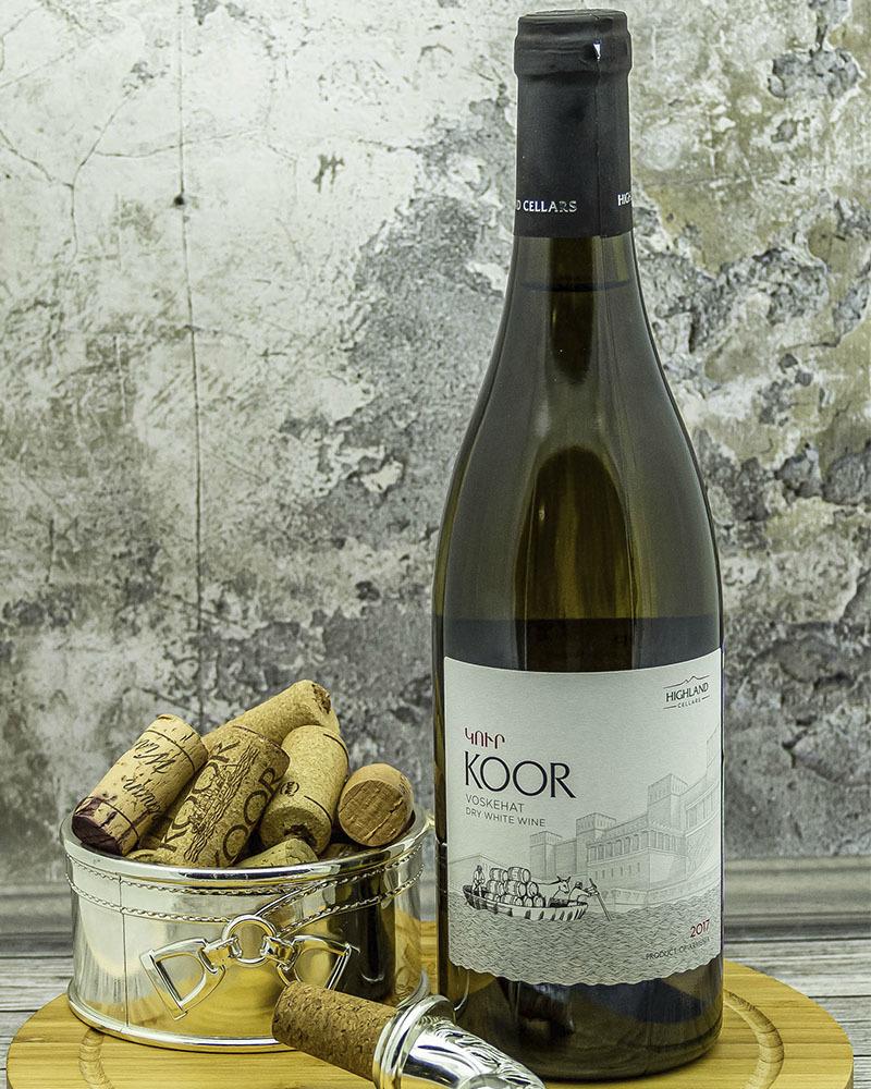 Вино Koor Белое Cухое 2017 г.у. 13,7% 0,75 л.