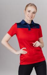 Поло спортивное Nordski Red/Blue женское