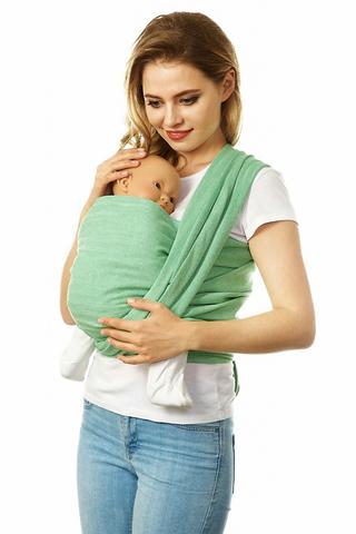 Слинг-шарф 07774 зеленый