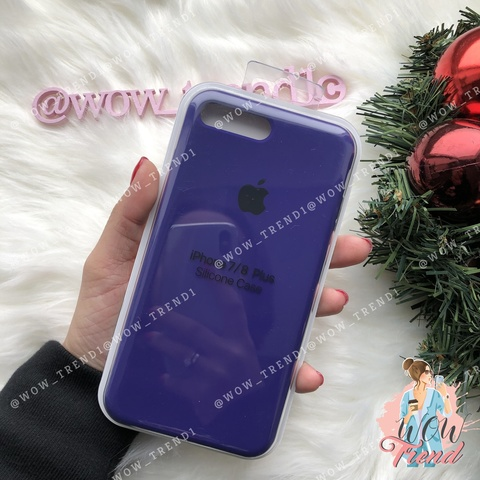 Чехол iPhone 7+/8+ Silicone Case /ultra violet/ ультрафиолет 1:1