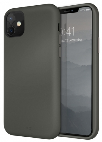 UNIQ / Чехол для iPhone 11 LINO | серый