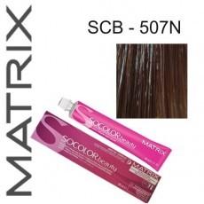 Matrix SOCOLOR.beauty: Extra-Coverage Neutral 507N блондин 100% покрытие седины, краска стойкая для волос (перманентная), 90мл