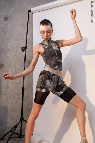 Sauna-shorts, stained in print | mud