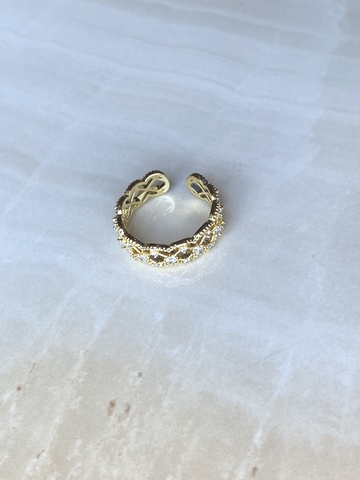 Кольцо Виктория, позолота