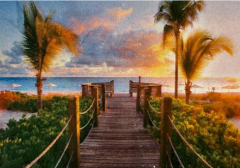 Алмазная Мозаика 20x30 Вид на морской пляж (арт. JS20286)
