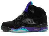 Кроссовки Женские Nike Air Jordan 5 Retro Black Grey Violet