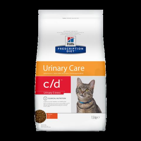 Hill's Prescription Diet c/d Stress Urinary Care Сухой диетический корм для кошек при лечении и профилактике цистита и мочекаменной болезни, в том числе вызванные стрессом с курицей