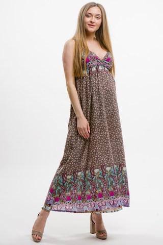 Платье для беременных 11640 коричневый