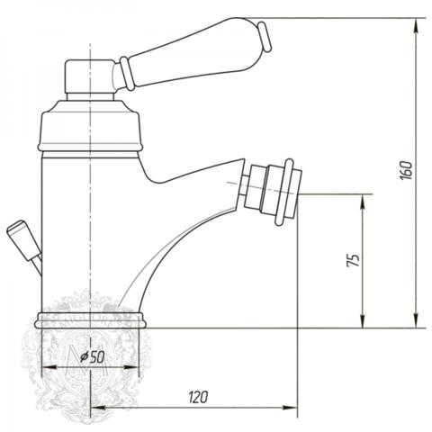 Смеситель для биде Migliore Hermitage ML.ERM-7023.BI схема