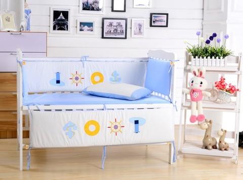 Комплект постельного белья  в кроватку с бортиком ТМ Вальтери Россия DK-13
