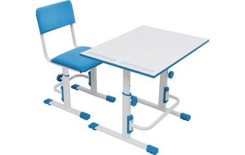 Стул для школьника регулируемый Polini kids City / Polini kids Smart L, белый-синий