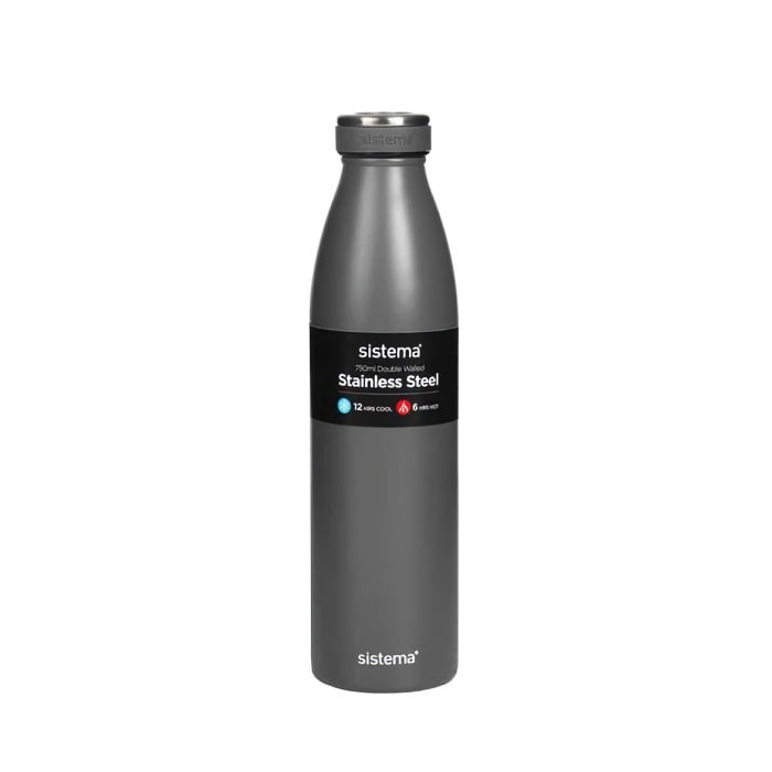 """Термобутылка Sistema """"Hydrate"""" 750 мл, цвет Серый"""