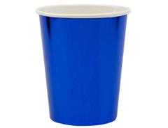 Стаканы фольгированные, Синий, 250 мл, 6 шт, 1 уп.