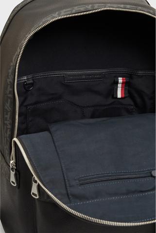 Мужской черный рюкзак TH MONOGRAM BACKPACK Tommy Hilfiger