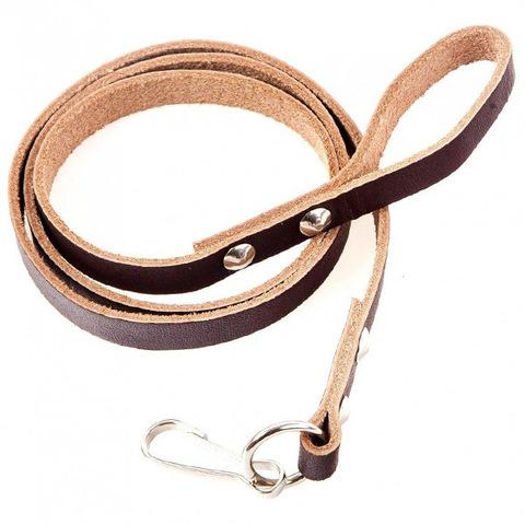 Шнур пистолетный кожаный коричневый