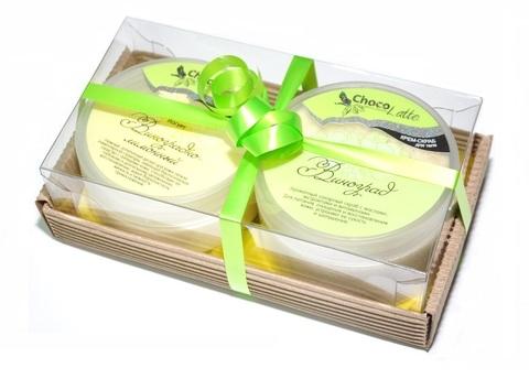 Набор подарочный №12 для тела Виноград (крем-скраб Сорбе Виноград, Йогурт Виноградно-лимонный)/ТМChocolatte