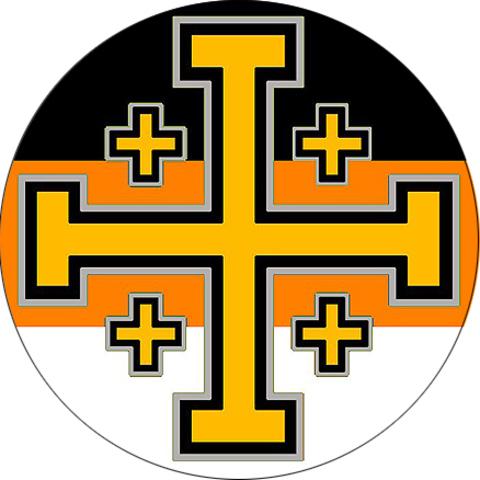 """Значок закатной """"Иерусалимский крест"""" (3)"""