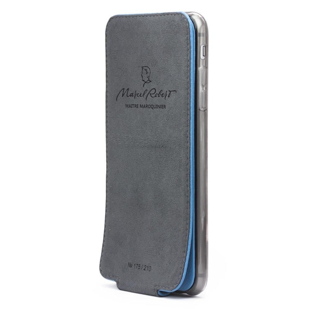 Чехол для iPhone 6/6S Plus из натуральной кожи теленка, голубого цвета