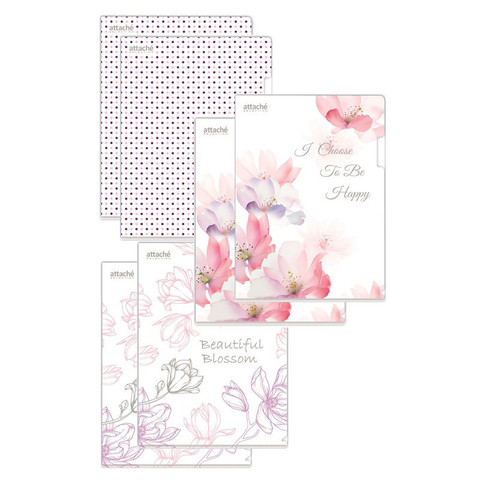 Папка уголок А4, 180мкм,   Flower Dreams  ассорти, 6 шт.уп