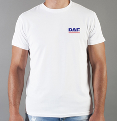 Футболка с принтом ДАФ (DAF) белая 006