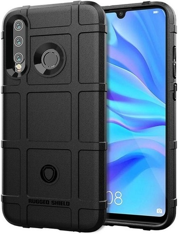 Чехол Carbon для Huawei P30 Lite/Nova4E Lite серия Армор | черный