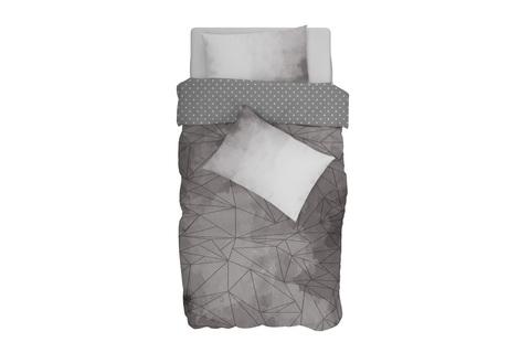 Комплект постельного белья поплин Level grafit