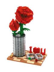 Конструктор LOZ Хрустальная роза 920 деталей NO. 9022 Crystal rose Creator Series