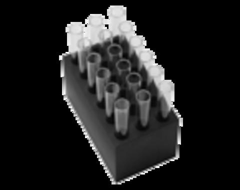B18-12. Блок з 18 гніздами для пробірок 12 мм діаметром. 75 мм висотою. конічне дно. BioSan (Латвія)