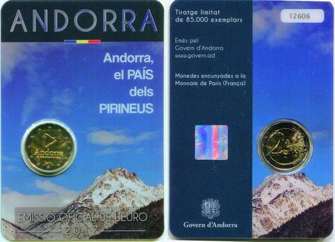 2 евро 2017 Андорра - страна в Пиренеях
