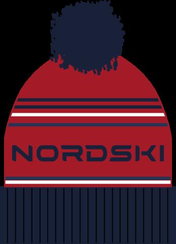 Шапка Nordski Stripe Red