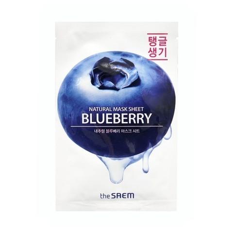 The Saem Маска тканевая с экстрактом черники the SAEM Natural Blueberry Mask Sheet 21ml