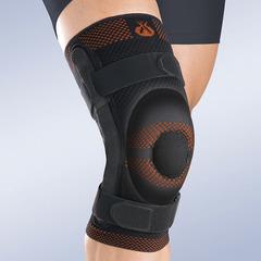 Бандаж коленный Orliman c закрытой коленной чашечкой с силиконовой подушечкой и полицентрическим шарниром