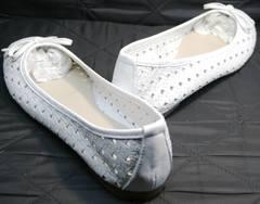 Кожаные женские балетки Vasari Gloria 19Y38840 White.