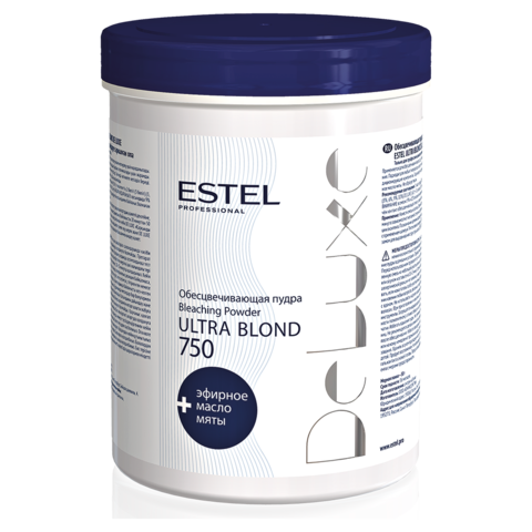 Обесцвечивающая пудра для волос DE LUXE ULTRA BLOND, 750 г