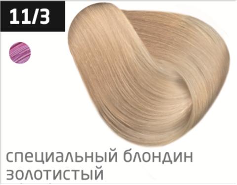 OLLIN color 11/3 специальный блондин золотистый 100мл перманентная крем-краска для волос
