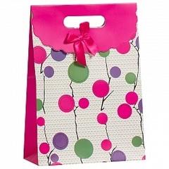 Пакет подарочный Ветви, Розовый, 23*31*11 см
