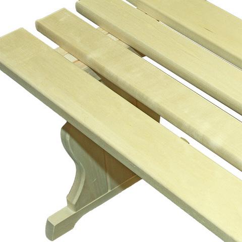 Скамья из осины (широкая), 150*40*44 см