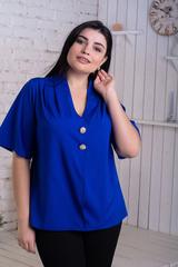 Хильда. Нежная женская блуза больших размеров. Электрик
