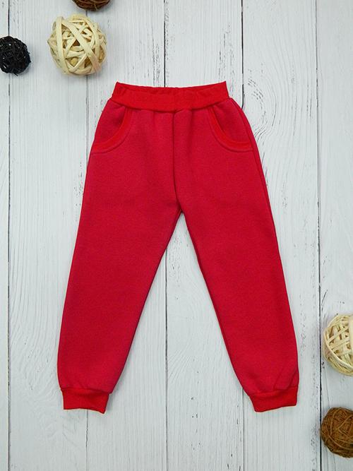 Брюки с карманами, 2401, красные