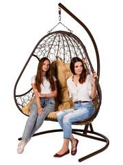 Двухместное подвесное кресло PRIMAVERA BROWN