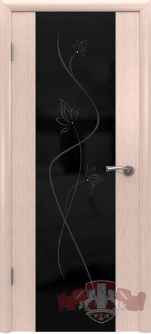 Дверь 8ДО5 черн. Трипл. (беленый дуб, остекленная шпонированная), фабрика Владимирская фабрика дверей