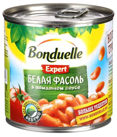"""Фасоль """"Bonduelle"""" белая в томатном соусе 425мл"""